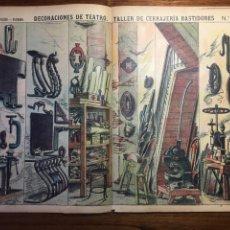 Coleccionismo Recortables: DECORACIONES DE TEATRO TALLER DE CERRAJERÍA BASTIDORES N 506 PALUZIE. Lote 214650592