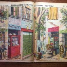Coleccionismo Recortables: DECORACIONES DE TEATRO BASTIDORES DE PUEBLO N 1038 LIT HIJOS DE PALUZIE (BARBERO PANADERÍA HERRERÍA). Lote 214650792