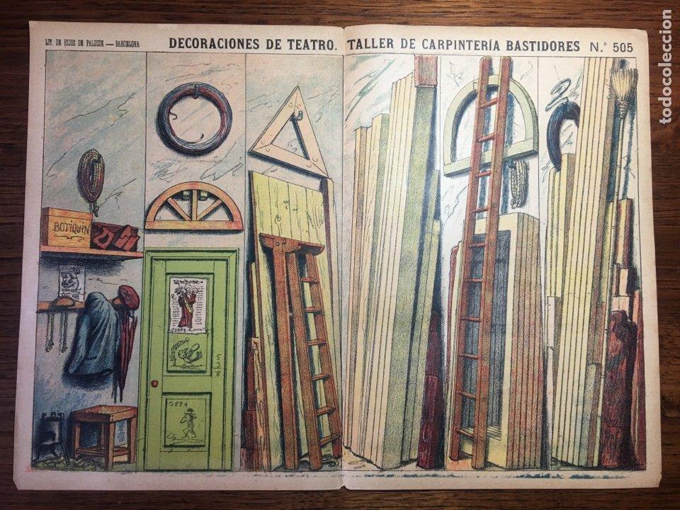 DECORACIONES DE TEATRO TALLER DE CARPINTERÍA N 505 PALUZIE (Coleccionismo - Recortables - Construcciones)