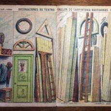 Coleccionismo Recortables: DECORACIONES DE TEATRO TALLER DE CARPINTERÍA N 505 PALUZIE. Lote 214652925
