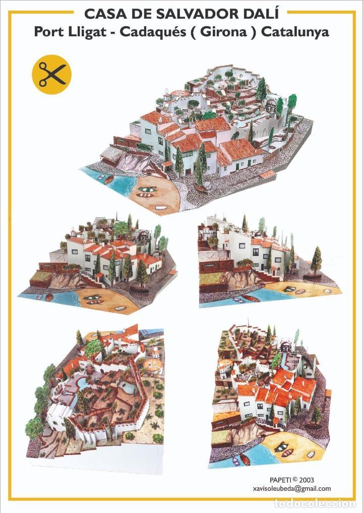MAQUETA RECORTABLE DE LA CASA DE DALÍ EN PORT LLIGAT ( CADAQUÉS-GIRONA) (Coleccionismo - Recortables - Construcciones)