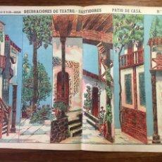 Coleccionismo Recortables: DECORACIONES DE TEATRO BASTIDORES PATIO DE CASA N 1055 PALUZIE. Lote 215458523