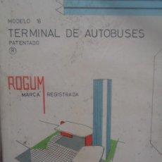 Coleccionismo Recortables: MICROLANDIA - TERMINAL DE AUTOBUSES - ROGUM - 1963. Lote 217650962