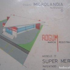 Coleccionismo Recortables: MICROLANDIA - SUPER MERCADO - ROGUM - 1963. Lote 217651022