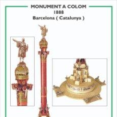 Coleccionismo Recortables: MAQUETA RECORTABLE DEL MONUMENTO A COLÓN ( BARCELONA). Lote 259231860
