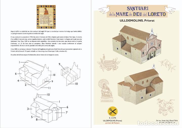 MAQUETA RECORTABLE DEL SANTUARIO DE LORETO (ULLDEMOLINS-TARRAGONA) (Coleccionismo - Recortables - Construcciones)