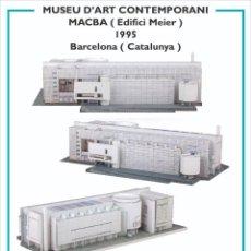 Coleccionismo Recortables: MAQUETA RECORTABLE DEL MUSEO DE ARTE CONTEMPORANEO-MACBA ( BARCELONA). Lote 252699020
