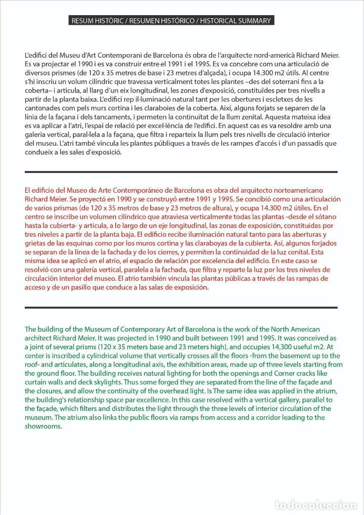 Coleccionismo Recortables: MAQUETA RECORTABLE DEL MUSEO DE ARTE CONTEMPORANEO-MACBA ( BARCELONA) - Foto 3 - 252699020