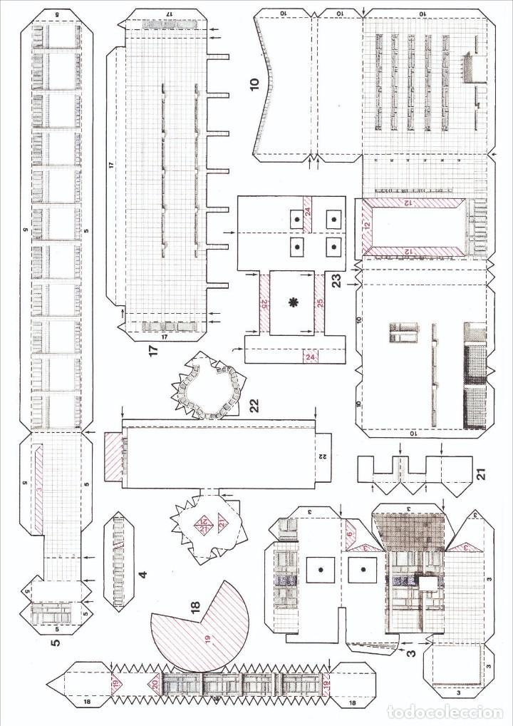 Coleccionismo Recortables: MAQUETA RECORTABLE DEL MUSEO DE ARTE CONTEMPORANEO-MACBA ( BARCELONA) - Foto 4 - 252699020