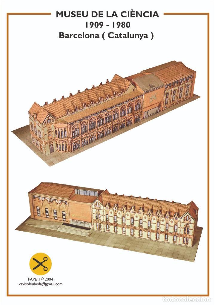 MAQUETA RECORTABLE DEL MUSEO DE LA CIENCIA ( BARCELONA) (Coleccionismo - Recortables - Construcciones)