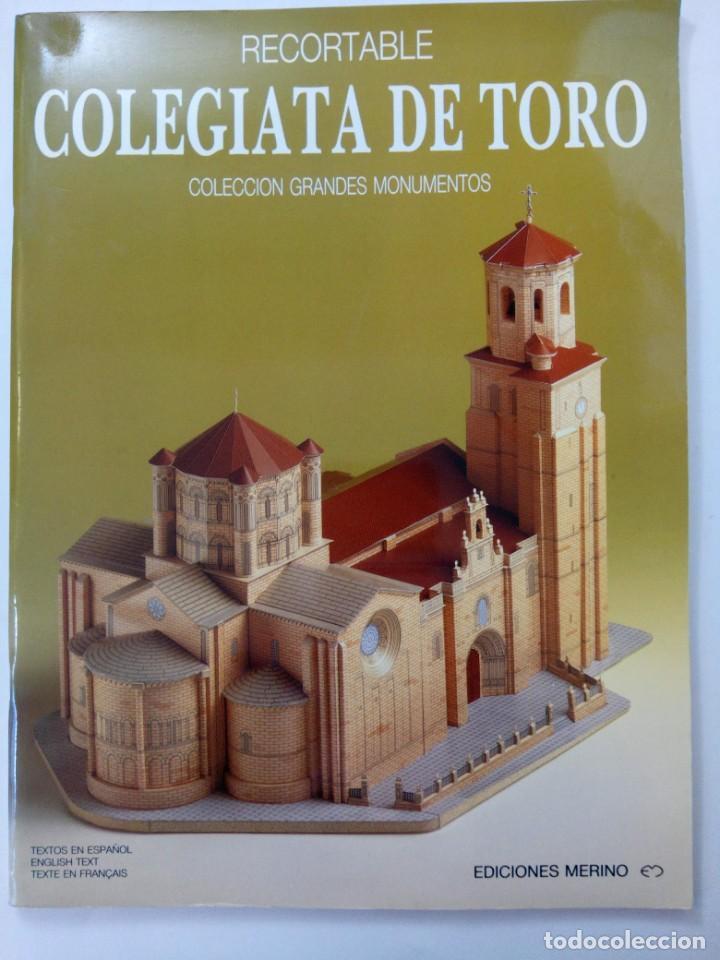 RECORTABLE COLEGIATA DE TORO - EDICIONES MERINO (Coleccionismo - Recortables - Construcciones)