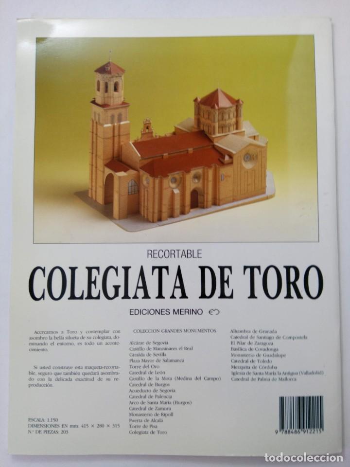 Coleccionismo Recortables: RECORTABLE COLEGIATA DE TORO - EDICIONES MERINO - Foto 4 - 222038035