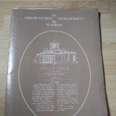Coleccionismo Recortables: RECORTABLE OBSERVATORIO ASTRONÓMICO DE MADRID, AÑOS 1980, PRONAOS. Lote 223524023