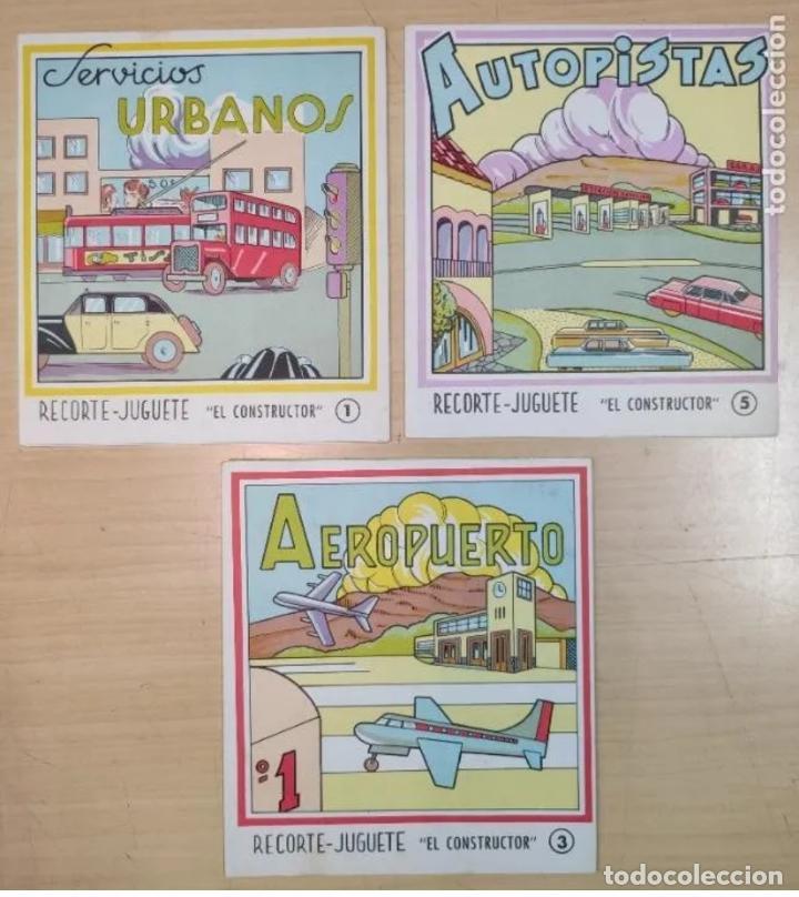 3 LIBROS RECORTABLES AÑOS 60 (Coleccionismo - Recortables - Construcciones)