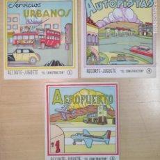Coleccionismo Recortables: 3 LIBROS RECORTABLES AÑOS 60. Lote 223996377