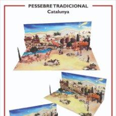 Collectionnisme Images à Découper: MAQUETA RECORTABLE DEL PESEBRE TRADICIONAL CATALÁN ( CATALUNYA). Lote 224228632