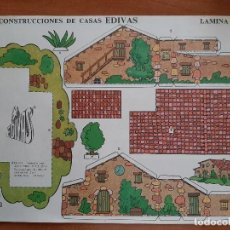 Collectionnisme Images à Découper: RECORTABLE CONSTRUCCIONES DE CASAS EDIVAS - Nº 1. Lote 226219585