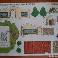 Coleccionismo Recortables: RECORTABLE CONSTRUCCIONES DE CASAS EDIVAS - Nº 3. Lote 244709545
