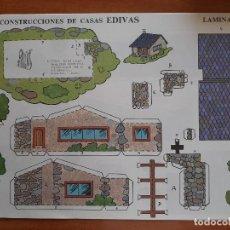Coleccionismo Recortables: RECORTABLE CONSTRUCCIONES DE CASAS EDIVAS - Nº 5. Lote 244709460