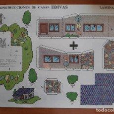 Coleccionismo Recortables: RECORTABLE CONSTRUCCIONES DE CASAS EDIVAS - Nº 6. Lote 244709395