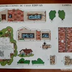 Coleccionismo Recortables: RECORTABLE CONSTRUCCIONES DE CASAS EDIVAS - Nº 7. Lote 244709675