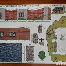 Coleccionismo Recortables: RECORTABLE CONSTRUCCIONES DE CASAS EDIVAS - Nº 8. Lote 244709605