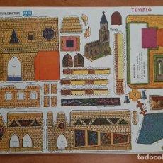 Collectionnisme Images à Découper: MANUALIDADES INSTRUCTIVAS , ORBE : TEMPLO Nº 10. Lote 226412233