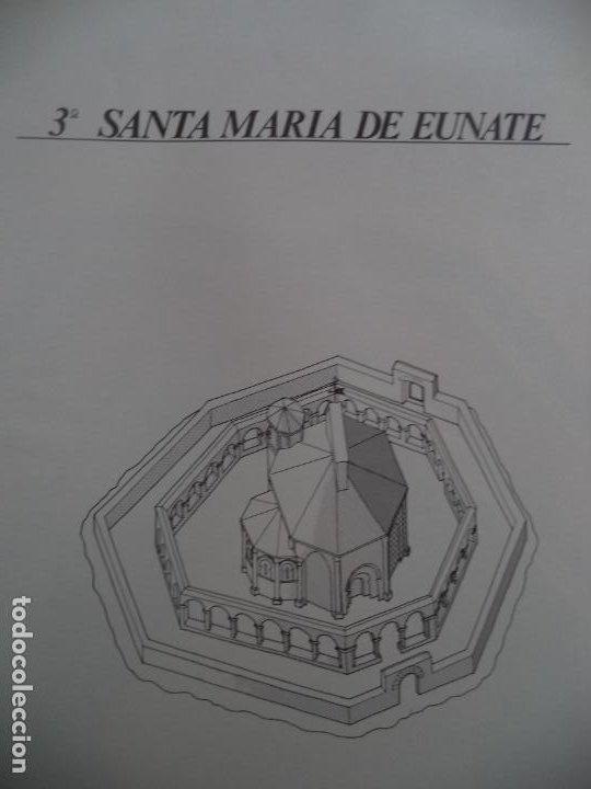 SANTA MARIA DE EUNATE C.A.MUNICIPAL PAMPLONASOBRE+5 LAMINAS DE 42X30 CM (Coleccionismo - Recortables - Construcciones)