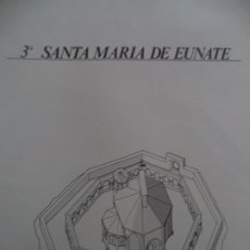 Coleccionismo Recortables: SANTA MARIA DE EUNATE C.A.MUNICIPAL PAMPLONASOBRE+5 LAMINAS DE 42X30 CM. Lote 227151215