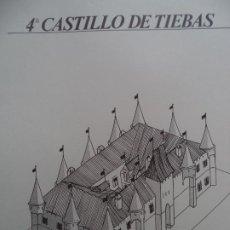 Coleccionismo Recortables: CASTILLODE TIEBAS C.A.MUNICIPAL PAMPLONA SOBRE+5 LAMINAS 43X30 CM. Lote 227153280