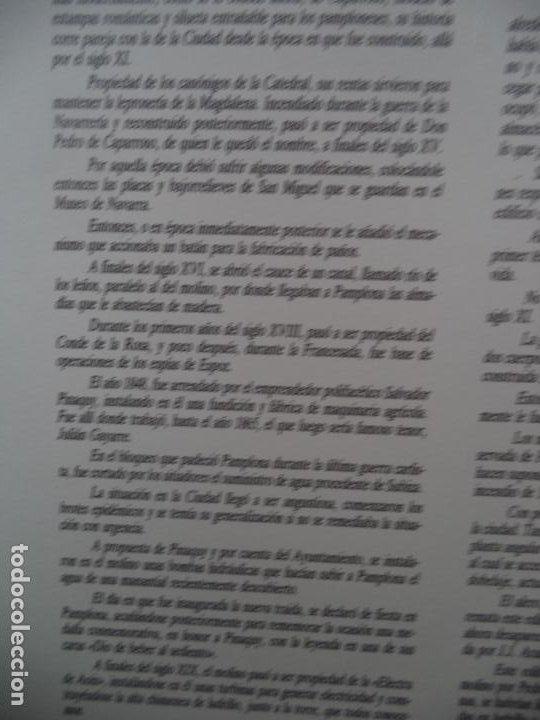 Coleccionismo Recortables: EL MOLINO DE CAPARROSO CAMUNICIPAL PAMPLONA SOBRE +9 LAMINAS DE 43X30 CM - Foto 2 - 227154525