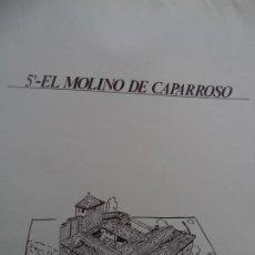 Coleccionismo Recortables: EL MOLINO DE CAPARROSO CAMUNICIPAL PAMPLONA SOBRE +9 LAMINAS DE 43X30 CM. Lote 227154525
