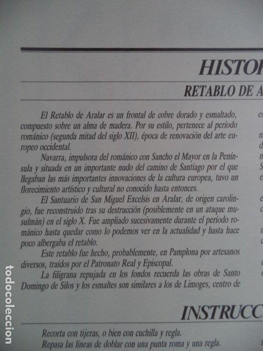 Coleccionismo Recortables: RETABLO DE ARALAR CA MUNICIPAL DE PAMPLONA SOBRE+4 LAMINAS DE 43X30 CM - Foto 2 - 227155800