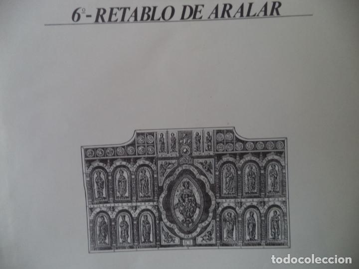 RETABLO DE ARALAR CA MUNICIPAL DE PAMPLONA SOBRE+4 LAMINAS DE 43X30 CM (Coleccionismo - Recortables - Construcciones)