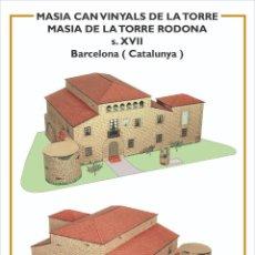 Coleccionismo Recortables: MAQUETA RECORTABLE DE LA MASIA DE LA TORRE RODONA ( BARCELONA). Lote 259231415