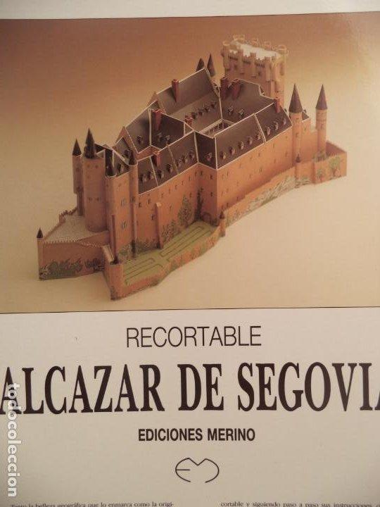 Coleccionismo Recortables: RECORTABLE MAQUETA ALCAZAR DE SEGOVIA 18 HOJAS MAQUETA DE 43 23,5 17,5 CM - Foto 2 - 228574595