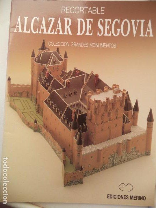 RECORTABLE MAQUETA ALCAZAR DE SEGOVIA 18 HOJAS MAQUETA DE 43 23,5 17,5 CM (Coleccionismo - Recortables - Construcciones)