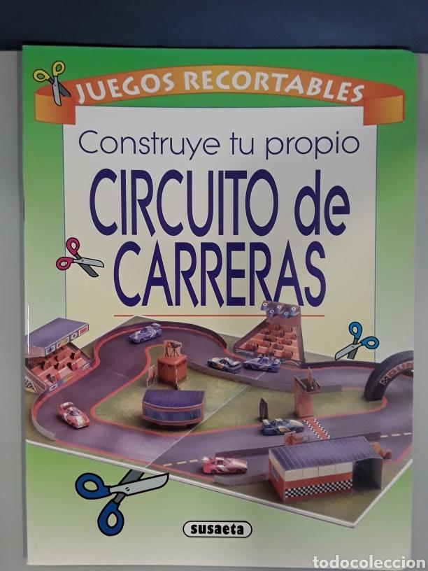 LIBRO RECORTABLE CIRCUITO DE CARRERAS EDITORIAL SUSAETA (Coleccionismo - Recortables - Construcciones)