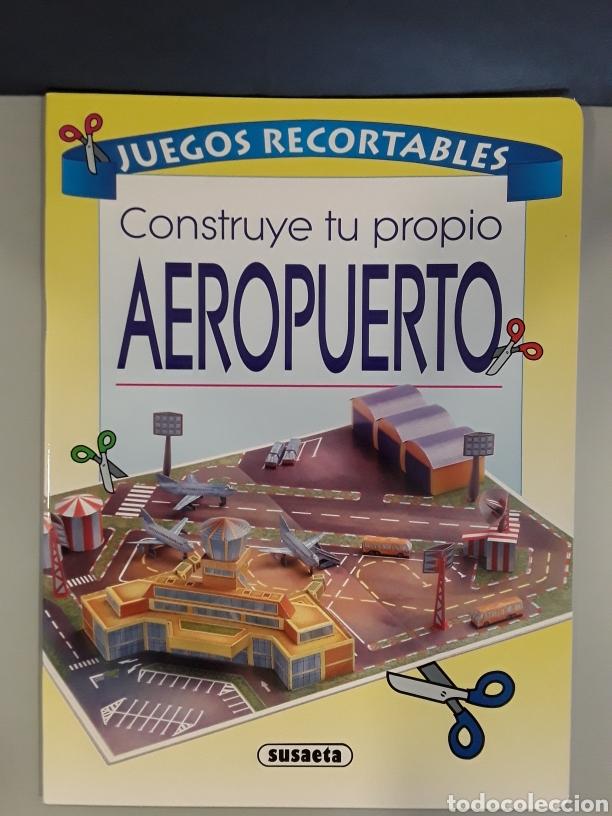 LIBRO RECORTABLE AEROPUERTO EDITORIAL SUSAETA (Coleccionismo - Recortables - Construcciones)