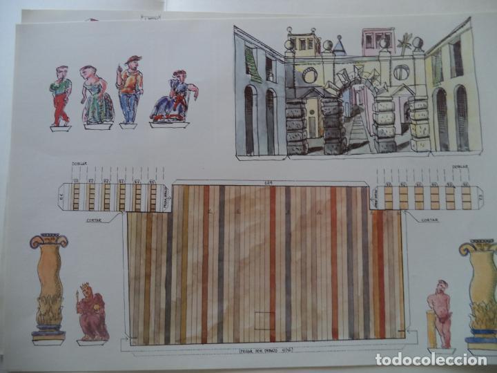 Coleccionismo Recortables: RECORTABLE CORRAL DE COMEDIAS ALMAGRO CARPETA 6 LAMINAS DE 52X35 CM - Foto 4 - 230824475