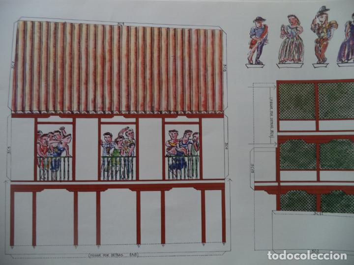 Coleccionismo Recortables: RECORTABLE CORRAL DE COMEDIAS ALMAGRO CARPETA 6 LAMINAS DE 52X35 CM - Foto 5 - 230824475