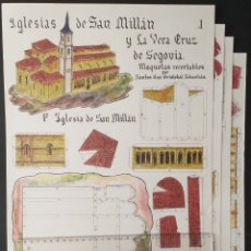 Coleccionismo Recortables: RECORTABLE IGLESIAS DE SAN MILLÁN Y LA VERA CRUZ DE SEGOVIA. Lote 233089355