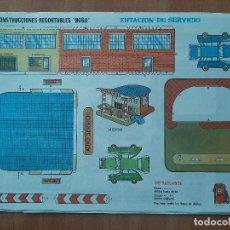 Colecionismo Recortáveis: BOGA , CONSTRUCCIONES RECORTABLES : ESTACIÓN DE SERVICIO , Nº 523. Lote 257453900