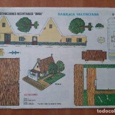 Colecionismo Recortáveis: BOGA , CONSTRUCCIONES RECORTABLES : BARRACA VALENCIANA , Nº 529. Lote 257453120