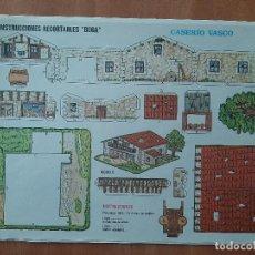 Colecionismo Recortáveis: BOGA , CONSTRUCCIONES RECORTABLES : CASERÍO VASCO Nº 527. Lote 260387365
