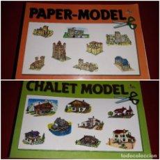 Coleccionismo Recortables: LOTE PAPER-MODEL 1 SERIE MEDIEVAL 8 LÁMINAS COMPLETO 2 CHALET MODEL 6 LAMINAS EDICIONES CON-BEL. Lote 236780190