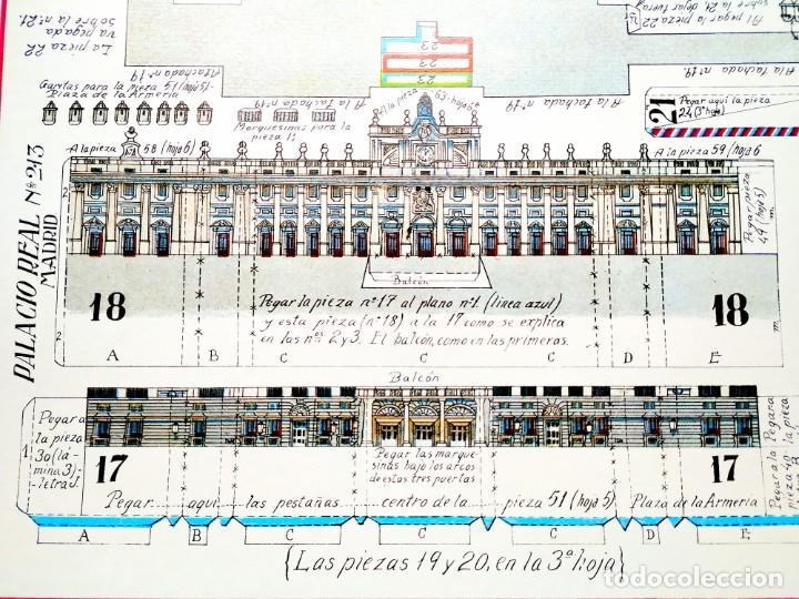RECORTABLE GIGANTE PALACIO REAL DE MADRID - 6 LÁMINAS CARTÓN - 500 X 625 MM CADA UNA (Coleccionismo - Recortables - Construcciones)