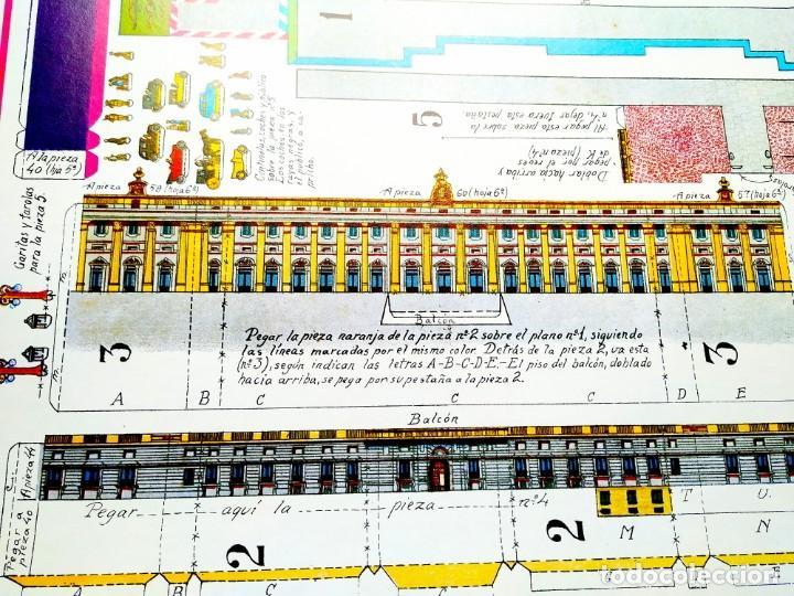 Coleccionismo Recortables: RECORTABLE GIGANTE PALACIO REAL DE MADRID - 6 LÁMINAS CARTÓN - 500 X 625 MM CADA UNA - Foto 5 - 237708065