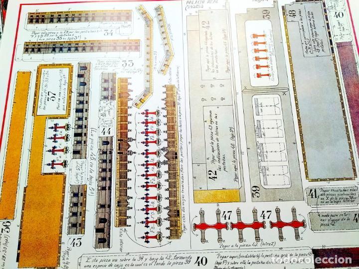Coleccionismo Recortables: RECORTABLE GIGANTE PALACIO REAL DE MADRID - 6 LÁMINAS CARTÓN - 500 X 625 MM CADA UNA - Foto 7 - 237708065