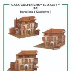 Coleccionismo Recortables: MAQUETA RECORTABLE DE LA CASA GOLFERICHS ( BARCELONA). Lote 257557480